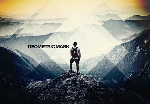 Geometric Square Shape Photo Effect Mockup