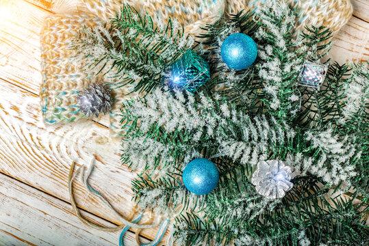 Warm Christmas decorations