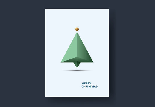 3D Modern Christmas Tree Card