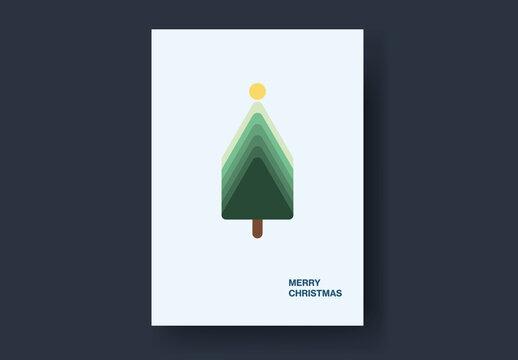 Retro Design Christmas Tree Card