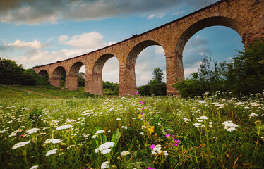 Wall Mural - Fantastic view to beautiful old railway viaduct.