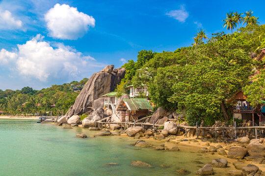 Taa Toh beach at Koh Tao island