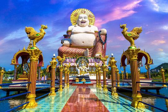 Giant happy buddha Samui