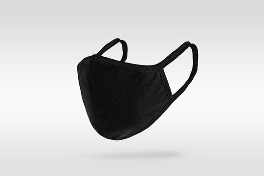 Black protective fabric face mask