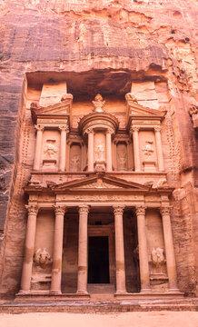 The temple of Al Khazneh in the capital of the Nabataean Kingdom, Petra, Jordan