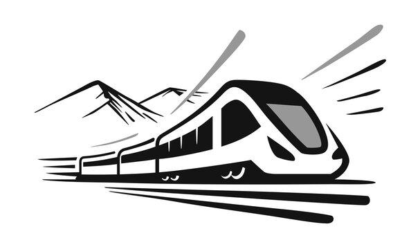 modern high speed train emblem