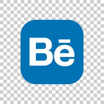 blue Behance  logo on a transparent background, vector editorial