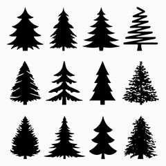 Fototapeta Christmas Tree Silhouette