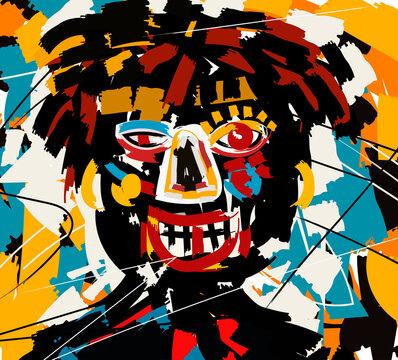 outsider art face portrait doodle graffiti cartoon
