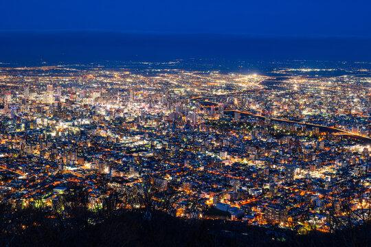 日本新三大夜景 札幌 藻岩山から眺望