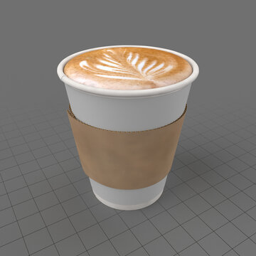 Cappuccino in a cup