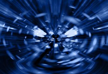 Wall Mural - abstracta, azul, alumbrado, remolino, empapelar, ilustración, liquido, olas, espiral, arte, con textura, negro, digital, fractal, color, espacio