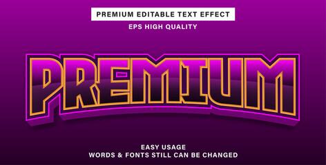 Wall Mural - Premium editable text effect