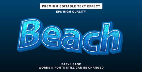 Wall Mural - Beach editable text effect