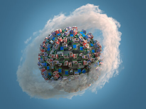 toy city on a small planet