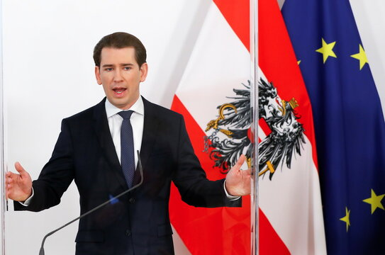 Austrian government holds news conference to announce reopening of country after lockdown