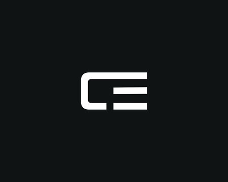 CE C E  initial based logo vector template image