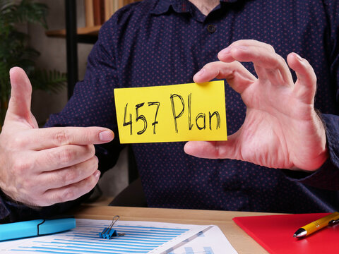 457 Plan is shown on the conceptual business photo