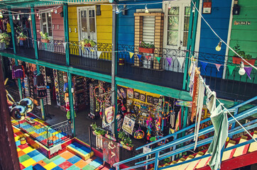 A lot of nice souvenirs in Caminito, Buenos Aires, Argentina