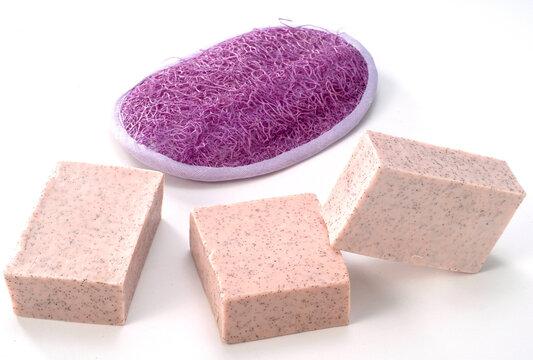 sabonete com esponja de massagem