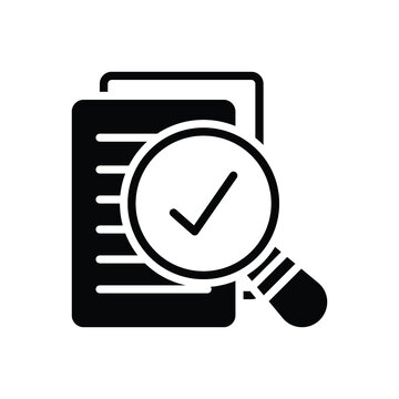 Black solid icon for assess