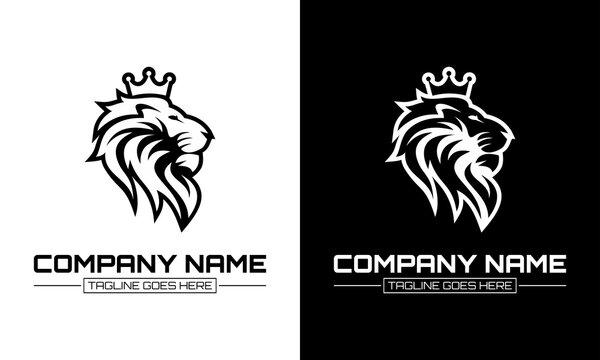 Ilustration vector graphic of Lion mascot logo vector illustration, emblem design.
