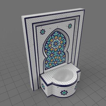 Moroccan tile fountain 1