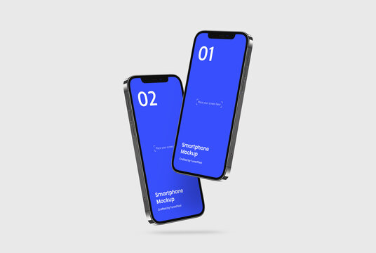 Smartphone Mockup | Fully Editable File, Replaceable Screen, Separated Shadow and Background | 6k Resolution | Help File
