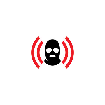 3 Hole Mask and Signal logo or icon design