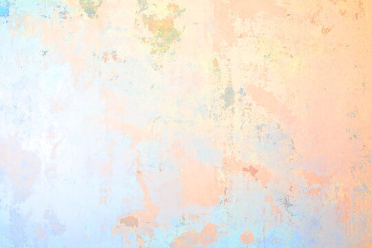 Old plastered wall painted in colorful spring colors