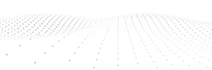 Abstract white background. 3d surface. Calm neutral gray backdrop. Vector illustration