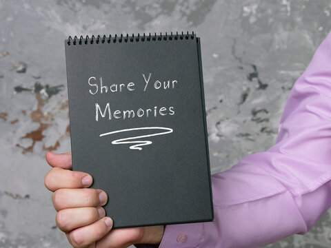 Share Your Memories phrase on the sheet.