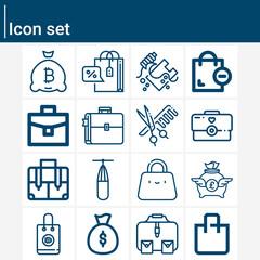 Fototapeta Simple set of ba related lineal icons. obraz