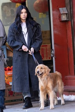 Hailee Steinfeld on location for HAWKEYE Television Series Shooting in NYC