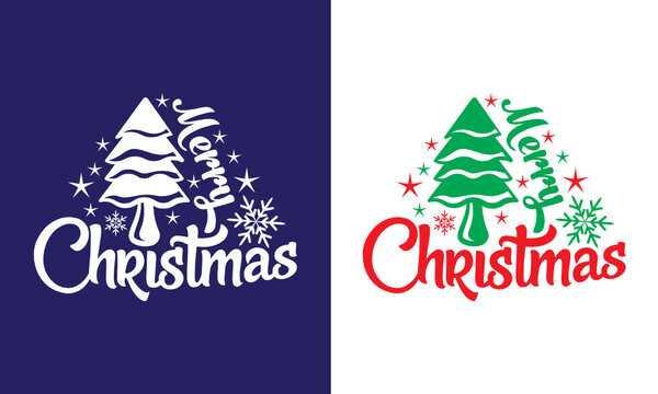 Merry Christmas SVG Cut File | Christmas Svg | Holiday Svg | Winter Svg | T-shirt Design