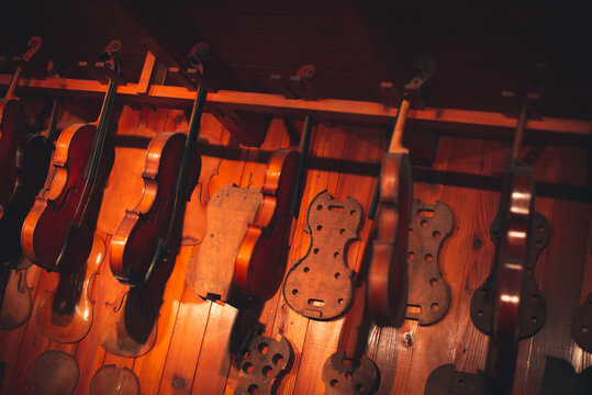 Stringed instruments for classical music Concept of classical and good music