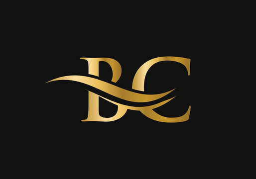 Premium BC letter logo design. BC Logo for luxury branding. Elegant and stylish design for your company.