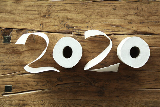 toilet paper with written year 2020
