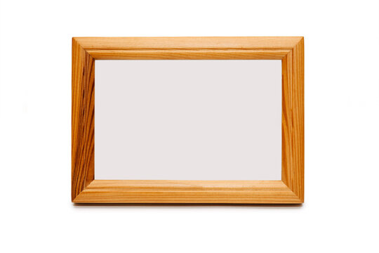 Wood Photo Frame 8x10 inch. Front view. Isolated on a white background. Horizontal.