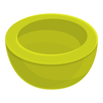 Half green nut shea tree icon. Cartoon of half green nut shea tree vector icon for web design isolated on white background