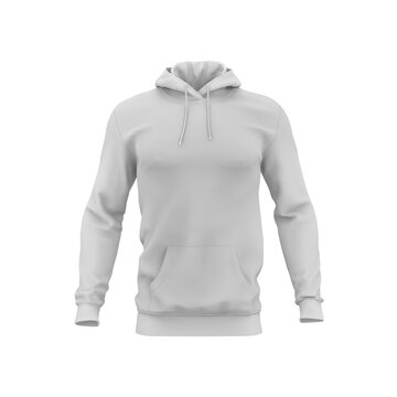 sweatshirt front view isolated mockup on white background
