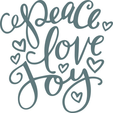 peace love joy logo sign inspirational quotes and motivational typography art lettering composition design