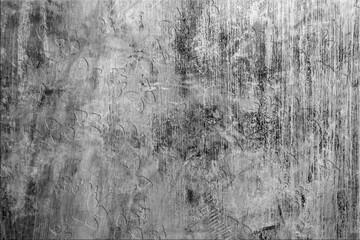 Panneau de mur en béton brossé et ciré, incrustation de motifs papillons
