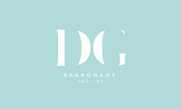 DG Alphabet initial Letter Monogram Icon Logo vector illustration