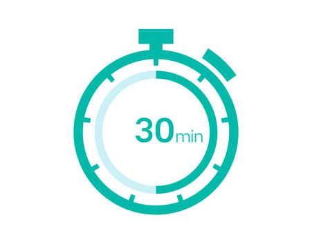 30 minutes timer icon, 30 min digital timer. Clock and watch, timer, countdown