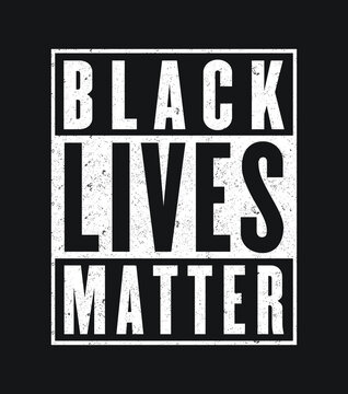Black Lives Matter in Straight Outta style - Vector file
