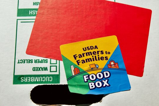 Miami, FL 12/2/2020-USDA Farmers to Families Food Box Delivering 20 million large boxes of farm fresh food to those in need as of June 23.2020