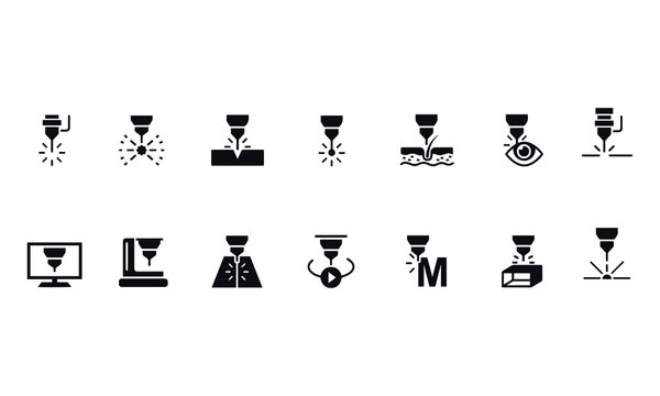 Laser vector icons