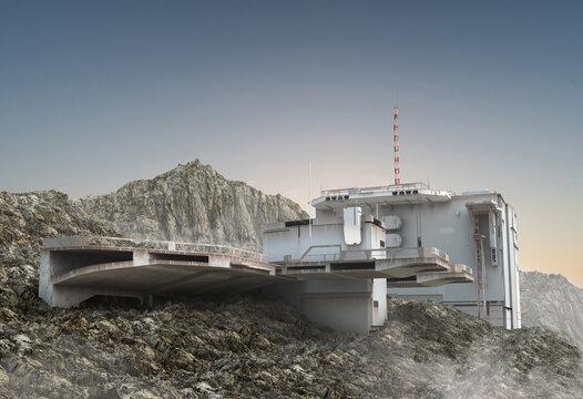 Military Mountain Outpost