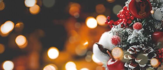 クリスマスバナー背景